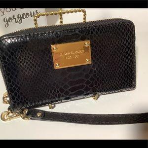 Michael Kors snakeskin wallet wristlet